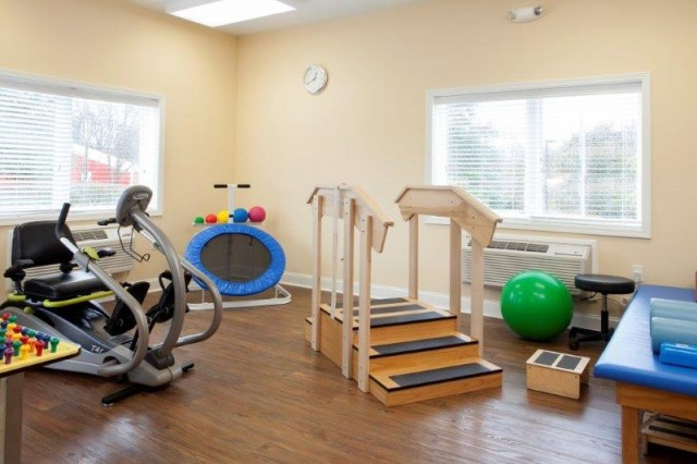 Enjoy state-of-the-art rehabilitation equipment featuring NuStep.